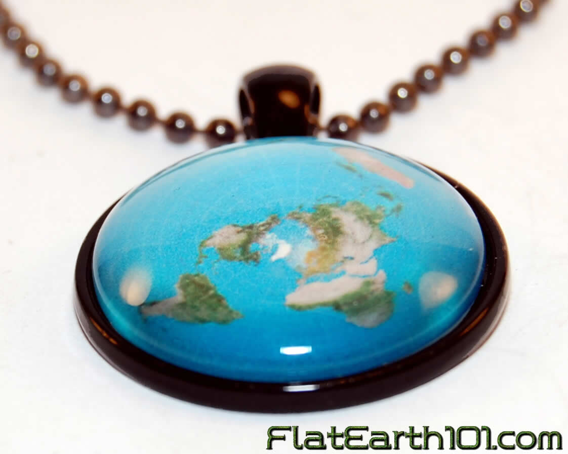 Flat Earth Map Necklace