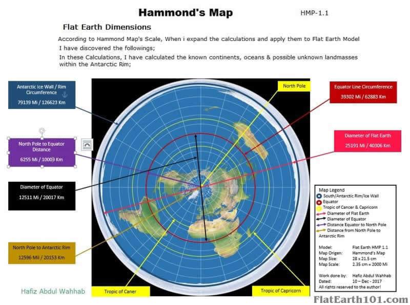 Flat Earth Map Ice Wall.Flat Earth Maps